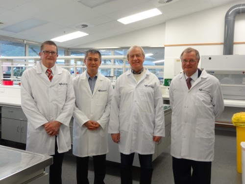 From left: Mayor of Upper Hutt City, Wayne Guppy; Dr Swee Tan; former Mayor of Hutt City, David Ogden; and the Chair of the GMRI board, Paul Baines